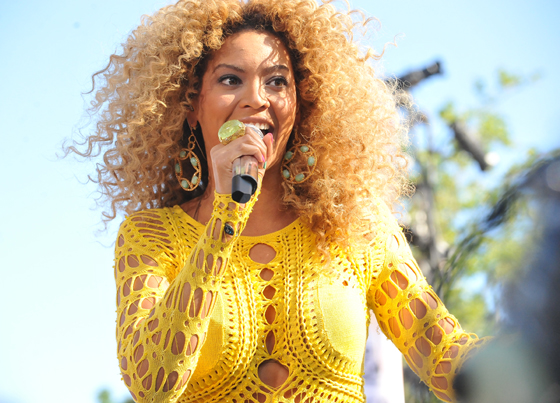 Beyonce performs at a 2011 summer concert for Good Morning America. Photo Credit: Astorio Tecson, via Wikipedia. Licensed CC.