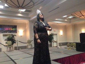 Miss Charlotte Black Gay Pride 2014 Carrie Chanel performs at the Extravaganza.