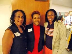 (L-R): Valerie Tutt, the Rev. Malu Fairley and Natasha Tutt