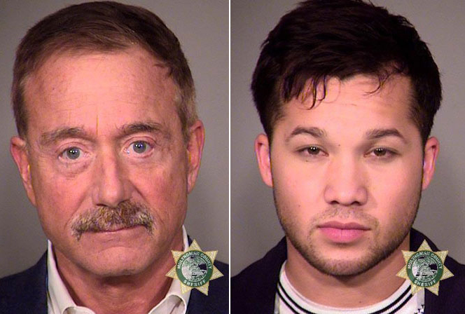 Terrance Bean, left, and Kiah Lawson in booking photos from the Multnomah County Sheriff's Department.