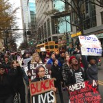 Protesters shut down Uptown square, march down Tryon St.