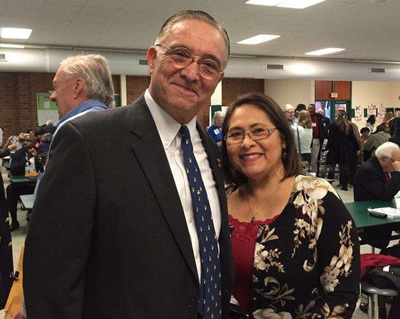 State party chair runner-up Marshall Adame and wife, Becky. Photo by Betsy Muse/BlueNC.