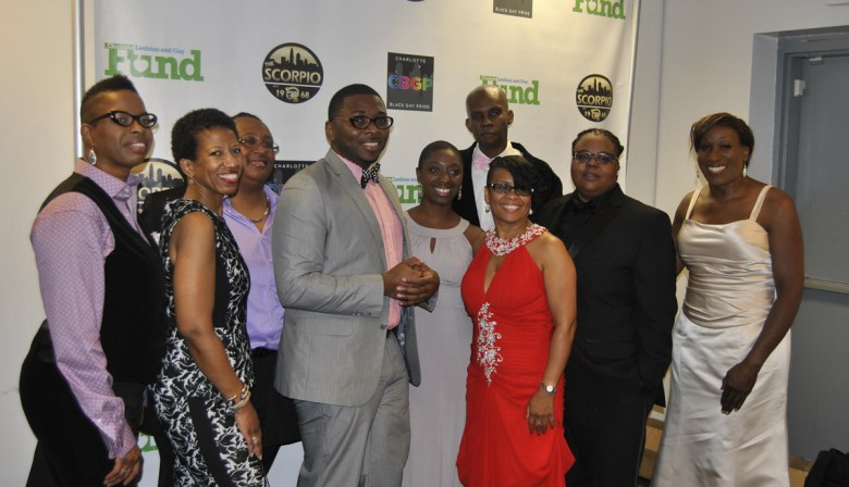 Current board members of Charlotte Black Gay Pride pose for a photo before the Decades of Excellence gala. Photo Credit:  Esih E. Photography