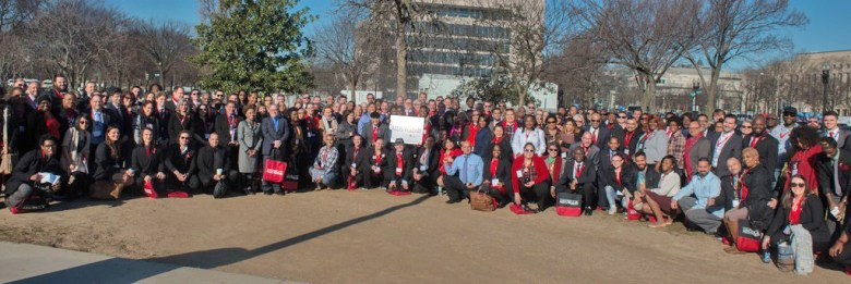Participants at the 2016 AIDS Watch caucus held in Washington, D.C.