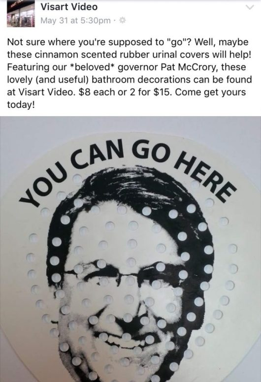 pat mccrory urinal cover hb2