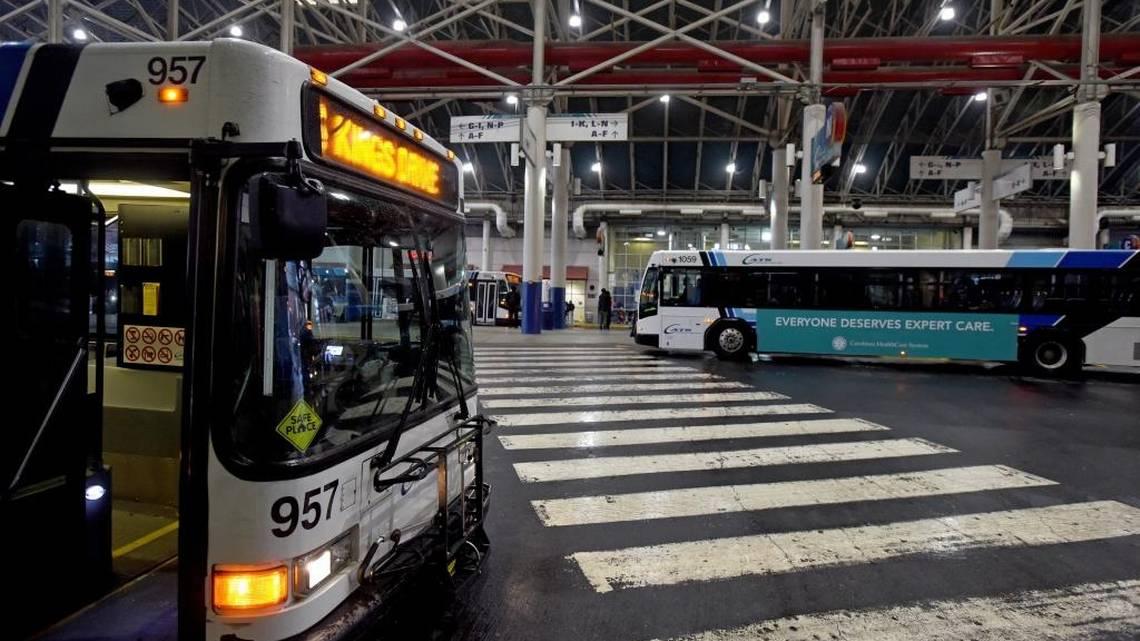Charlotte area transit bus