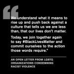 LGBTQ Organizations Unite to Combat Racial Violence