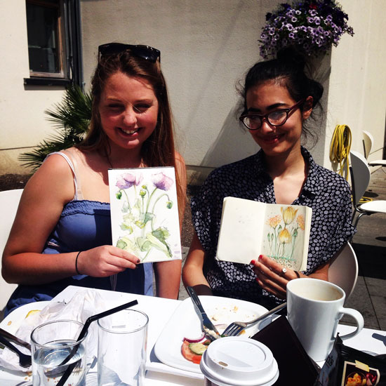 Oonagh and Reem and their beautiful drawings!