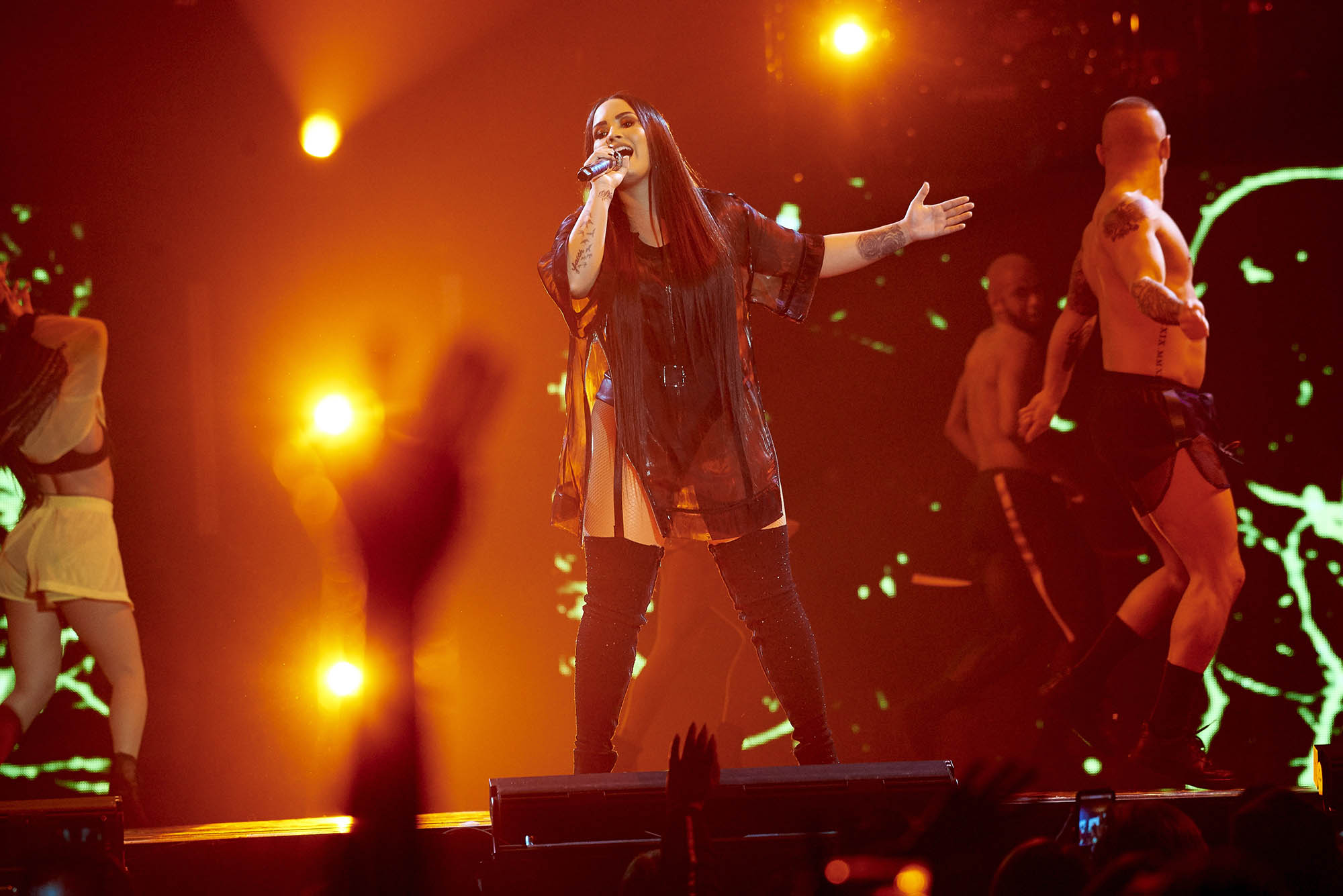 MINNEAPOLIS, MN MARCH 10: Demi Lovato performs at Target Center on March 10, 2017 in Minneapolis, Minnesota. © Tony Nelson