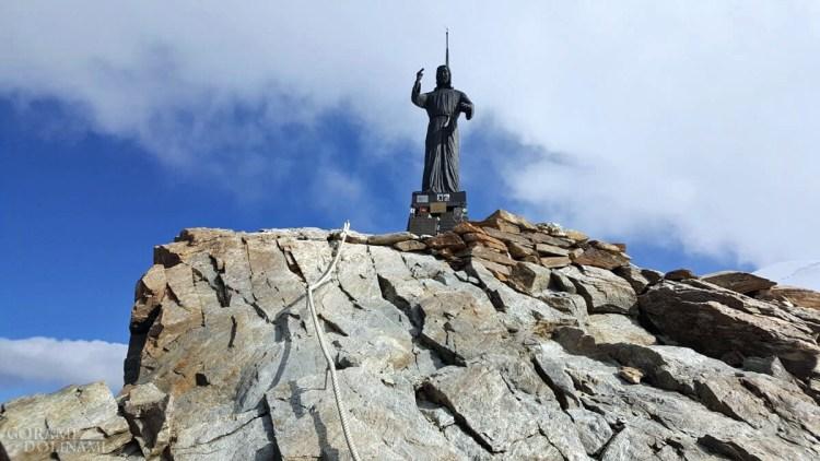 Figura Chrystusa na szczycie Balmenhornu