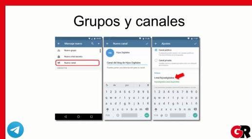 Gestionando Grupos y Canales en Telegram.