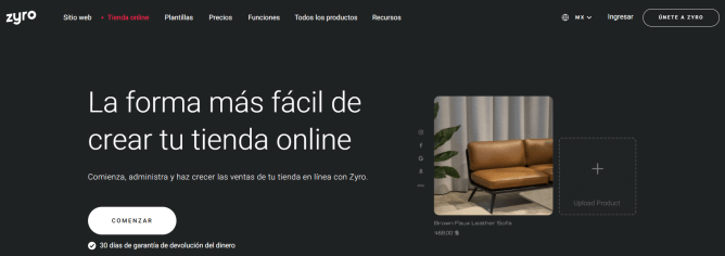 Zyro, tienda online