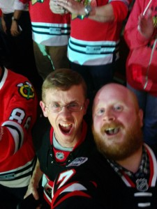 Mark and I witness a Cup clinching win