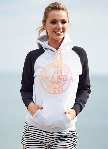 The Ocean State Gradient - Raglan Hood is one of the many Ghanda hoodies up for grabs in GORCC's #SaveTheHoodie competition. Photo: Ghanda