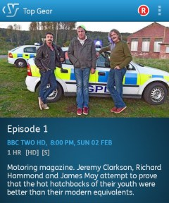 Top Gear - 02/02/2014 (YouView app screenshot)