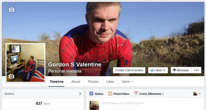 Gordon Valentine | facebook fan page | 837 fans