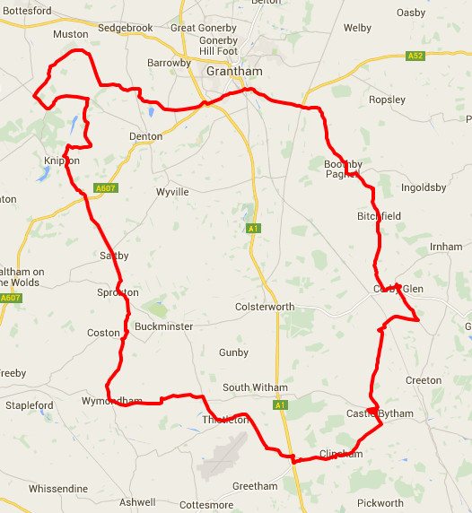 25-06-2015 - bike ride route map