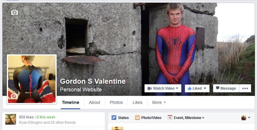 Gordon Valentine | facebook fan page | 950 fans