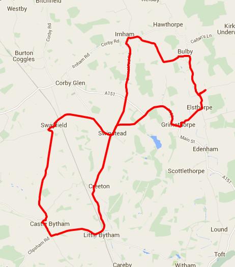 12-01-2016 - bike ride route map