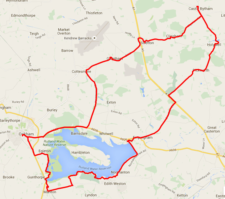 18-02-2016 - bike ride route