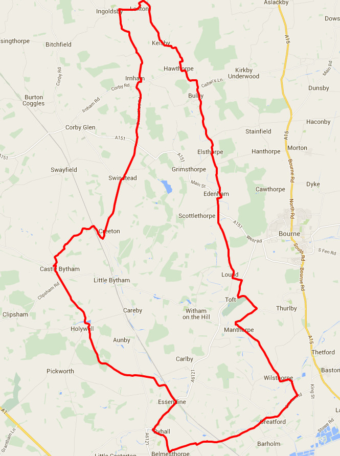 26-04-2016 - bike ride route map