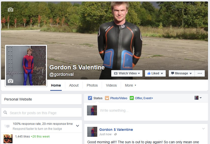 Gordon Valentine | facebook fan page | 1,445 fans