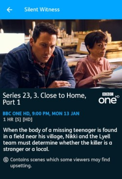 Silent Witness - 13-01-2020 - YouView app