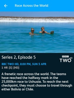 Race Across the World - 05-04-2020 - YouView app