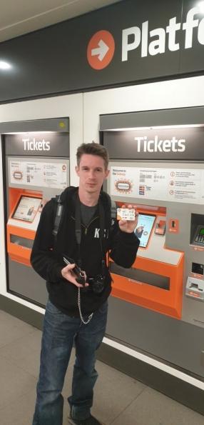 Nick at St Enoch subway station