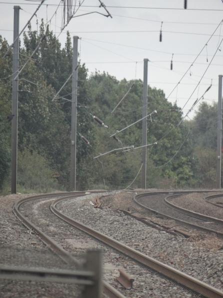 Downed overhead lines at Tallington