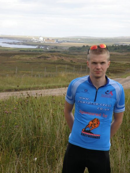 Myself with Dounreay nuclear power station in the background