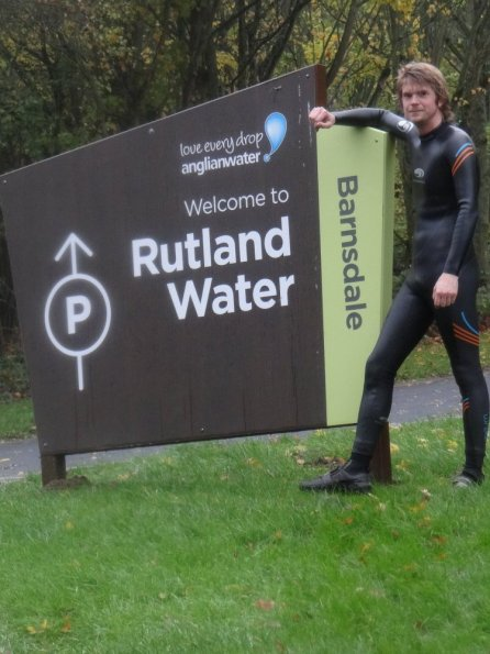 Wetsuit cycling at Rutland Water