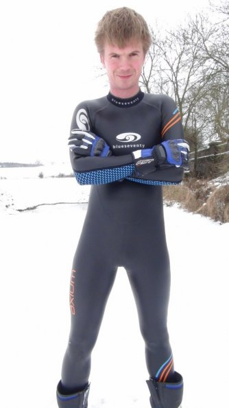 Wetsuit snow fun!