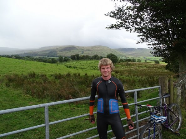 First wetsuit cycle in Scotland