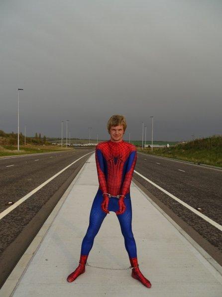 Amazing Spiderman 2 Morphsuit + cuffs