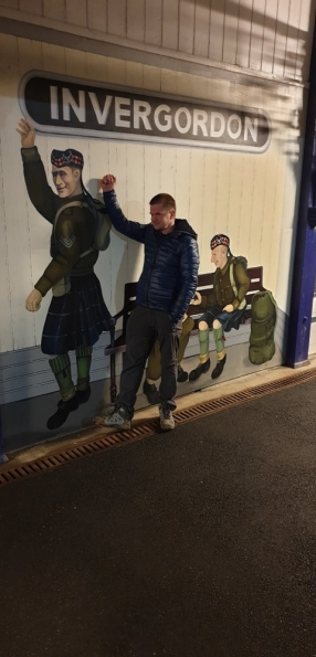 Myself at Invergordon railway station