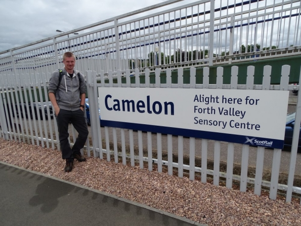 Myself at Camelon railway station