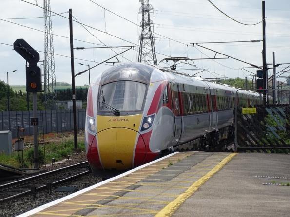 LNER Azuma at Grantham railway station