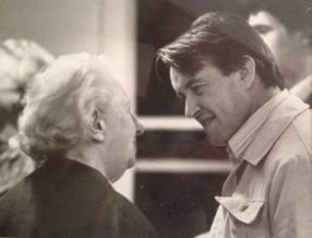 With Joan Cross, Suffolk (early 1970's)