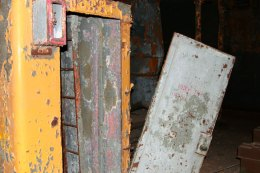 This door was the one crew members used to get to the upper decks. (Gordon Donovan)