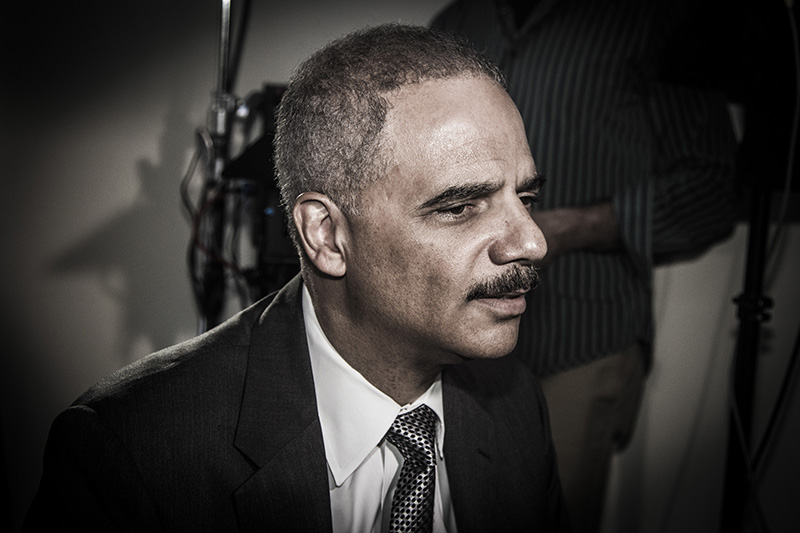 Eric Holder during an interview with Katie Couric at NYU in New York City on September 23, 2014. (Gordon Donovan/Yahoo News)