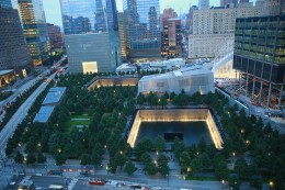 A view of the mall and buildings at The National September 11 Memorial & Museum in New York City. (Photo: Gordon Donovan/Yahoo News)