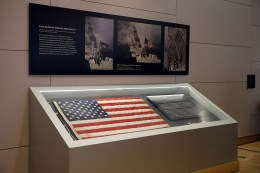 In the aftermath of the 9/11 attacks, an iconic image of first responders raising an American flag over the rubble of the fallen World Trade Center provided a symbol of hope and strength to many Americans. The ground zero flag, as it's commonly called, went missing for years after it was lost during the cleanup of the area. Now, nearly 15 years later, the flag hangs on display at the National September 11 Memorial and Museum in New York City. (Gordon Donovan/Yahoo News)