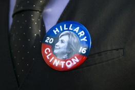 A supporter of Democratic presidential candidate Hillary Clinton stands in line to vote in New York City, Tuesday, Nov. 8, 2016, in New York. (Gordon Donovan/Yahoo News)