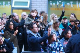 People take photos of Republican presidential candidate Donald Trump as he leaves PS-59 after voting, Tuesday, Nov. 8, 2016, in New York. (Gordon Donovan/Yahoo News)