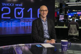 Yahoo News columnist Matt Bai at the Yahoo News Studios on election night on Tuesday, Nov. 8, 2016. (Gordon Donovan/Yahoo News)