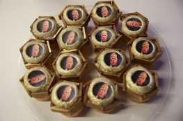 Donald Trump cupcakes at the Yahoo News Studios on election night, Tuesday, Nov. 8, 2016. (Gordon Donovan/Yahoo News)