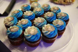 Hillary Clinton cupcakes at the Yahoo News Studios on election night, Tuesday, Nov. 8, 2016. (Gordon Donovan/Yahoo News)
