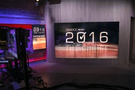 The Yahoo News Studios on election night, Tuesday, Nov. 8, 2016. (Gordon Donovan/Yahoo News)