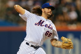 New York Mets Robert Gsellman (65) throws in the fourth inning of a baseball game against the Atlanta Braves at Citi Field in New York, Tuesday, September 20, 2016. (Gordon Donovan)